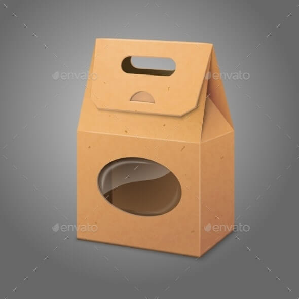 Paper Packaging Bag with Transparent Window (1)
