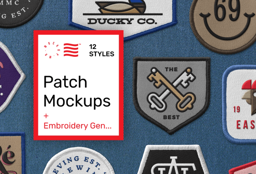 Patch Mockups + Embroidery Generato