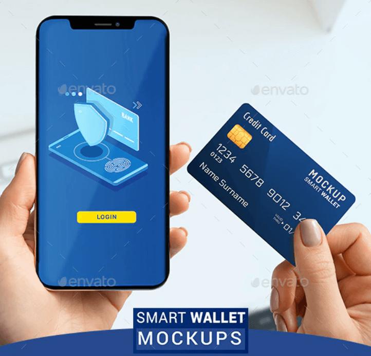 Phone 11 Smart wallet Mockups