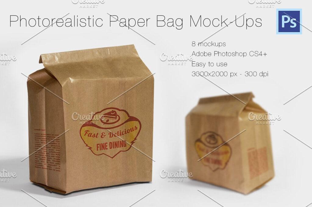 Photorealistic Paper Bag Mock-Ups (1)