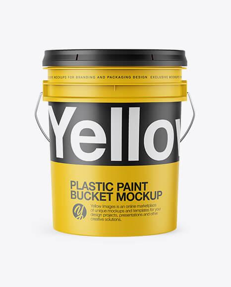 Plastic Bucket Mockup - Front View (1)