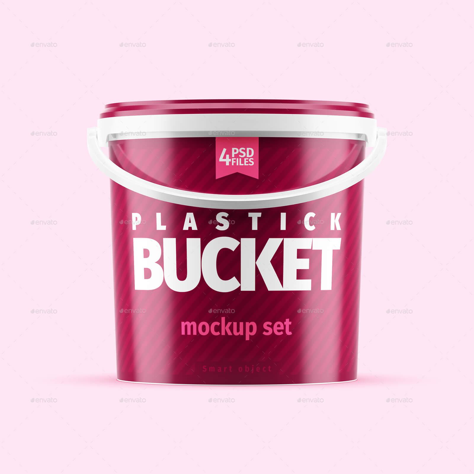 Plastic Bucket Mockup Set (1)