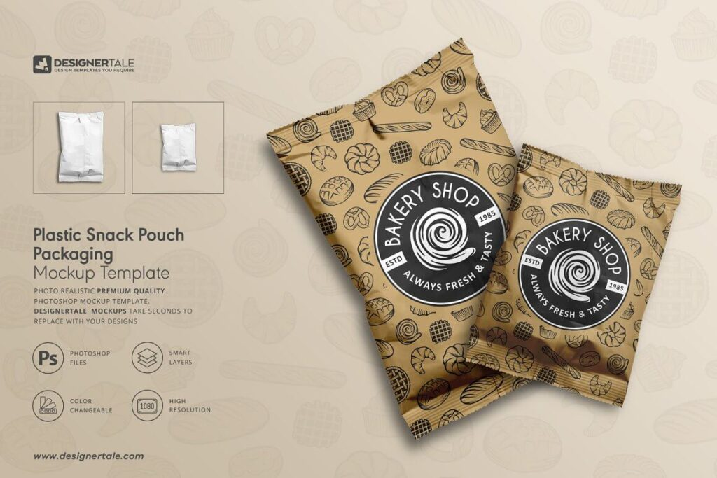 Plastic Snack Pouch Packaging Mockup (1)
