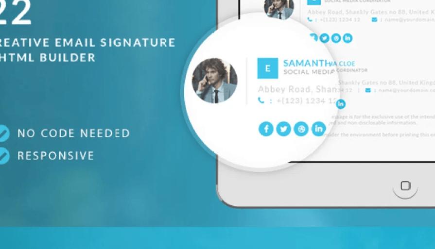 Responsive Email Signature + Builder
