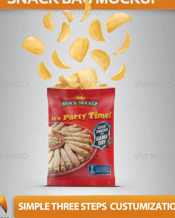 Snack Bag Mockup