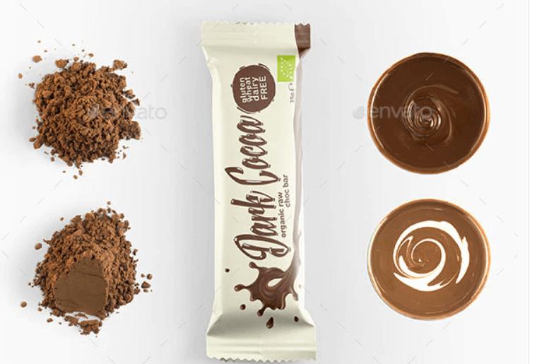 Snack Bar Packaging Mockup