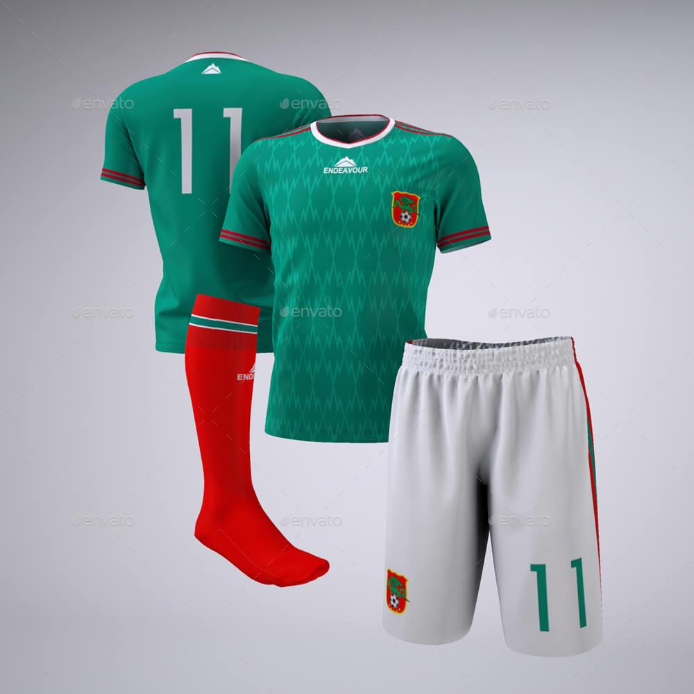 Soccer Football Team Uniform Mock-Up (1)