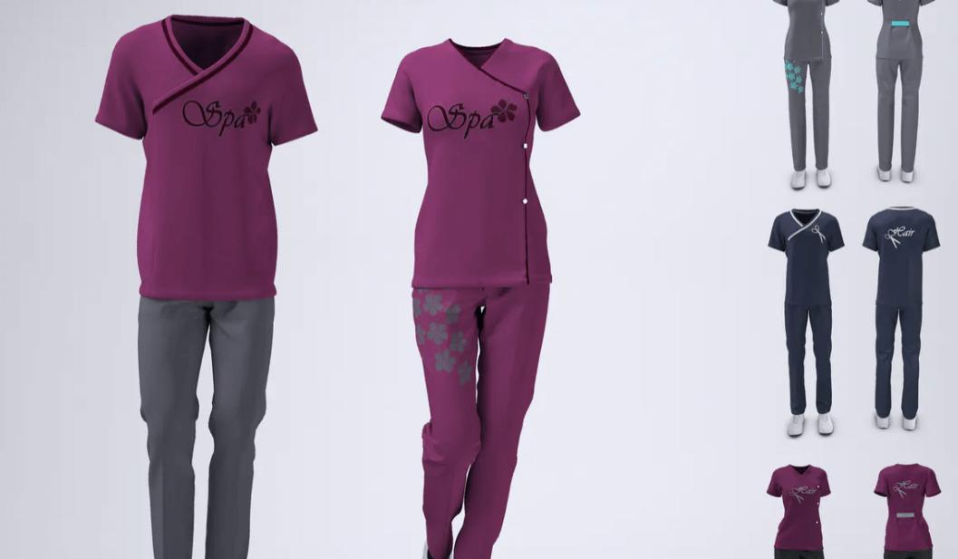 Spa Uniform Mock-