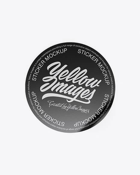 Textured Round Sticker Mockup (1)