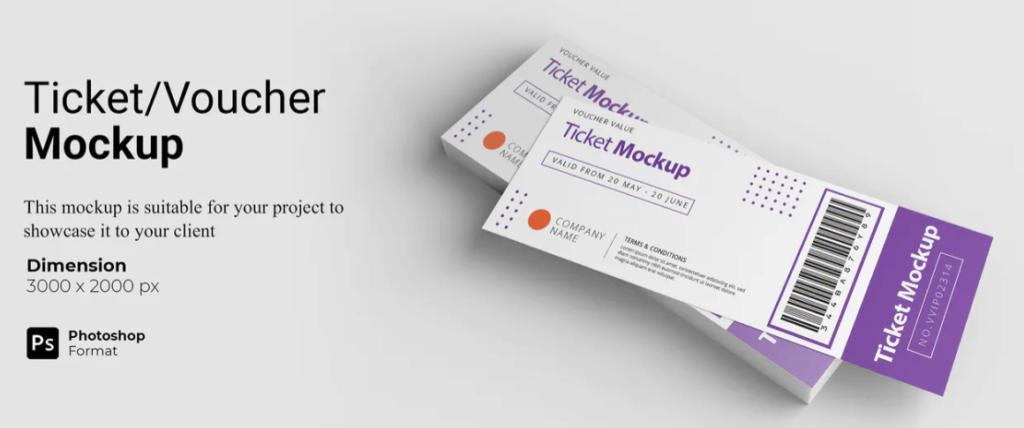 Ticket Voucher Mockup