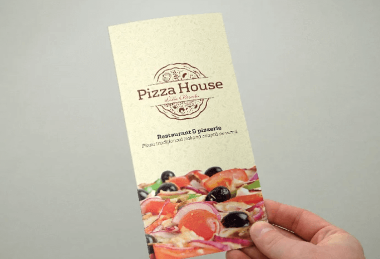 Trifold Pizza MenuFlyer