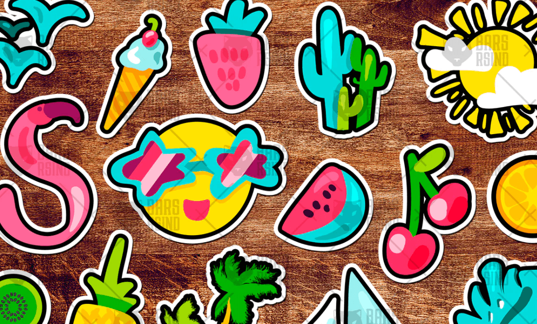 Tropical Summer Stickers