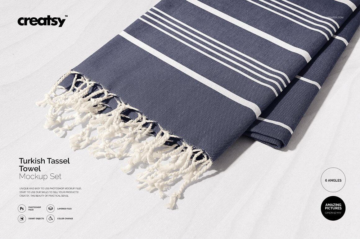 Turkish Tassel Towel Mockup Set (1)