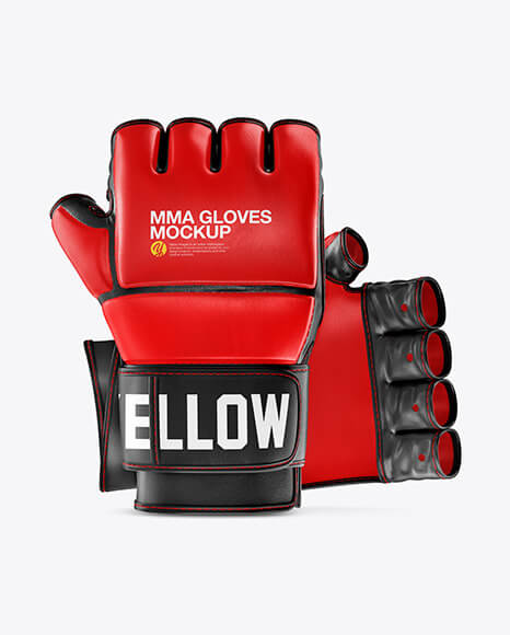 Two MMA Gloves Mockup (1)