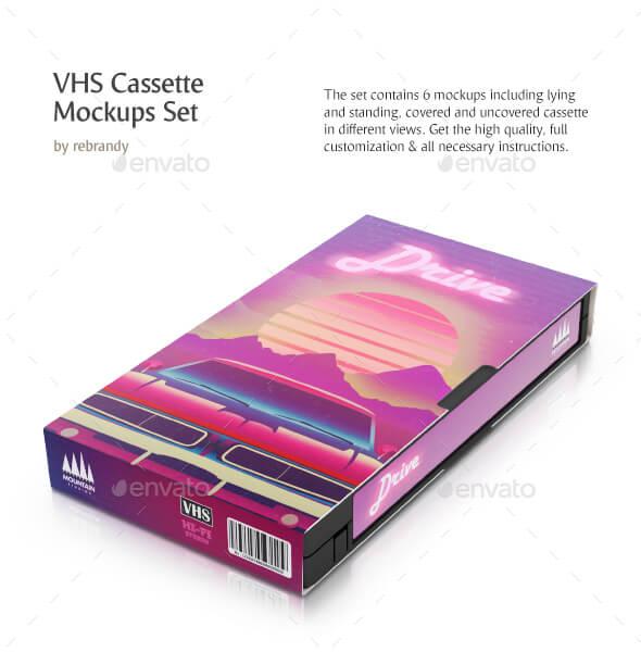 VHS Cassette Mockups Set (1)