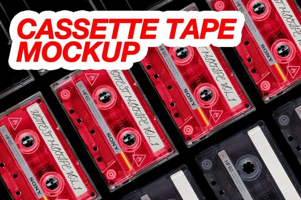 Vintage Cassette Tape Mockup (1)