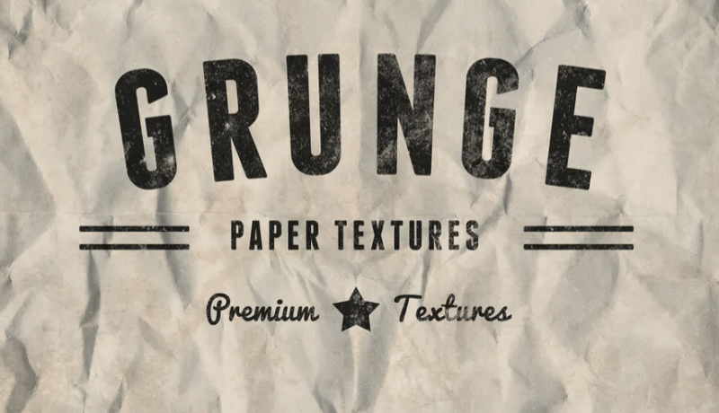 Vintage Grunge Lined & Crumpled Paper Textures