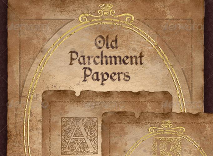 Vintage Parchment Paper - Historical Documents