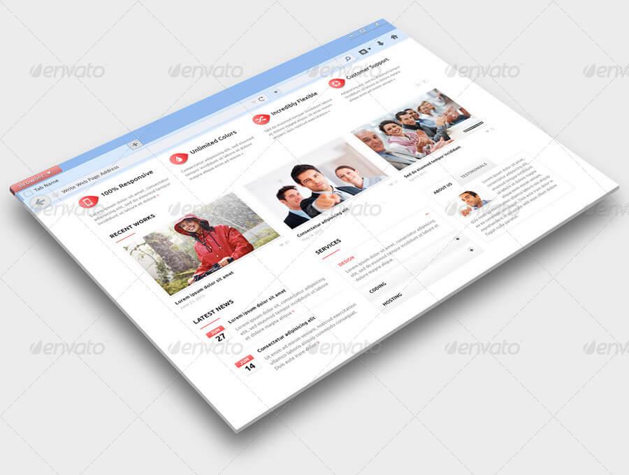 Web Browser Mock-Up (1)