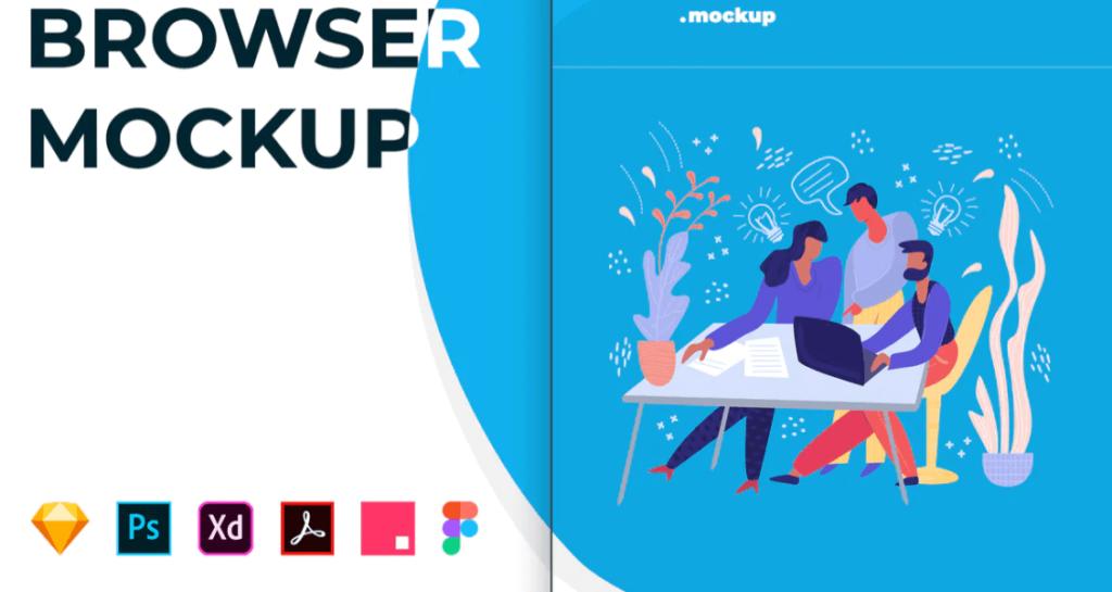 Web Browser Mockup – Safari Website Frame (1)