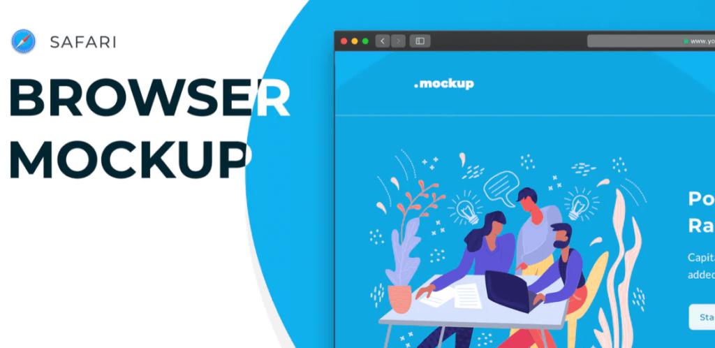 Web Browser Mockup – Safari Website Frame