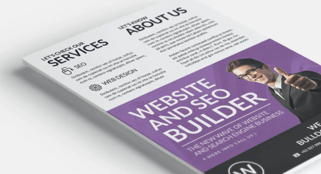 Web Promotion Flyer Template