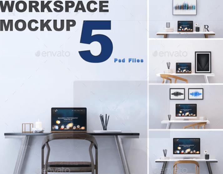 Minimalist Workspace Mockups (1)