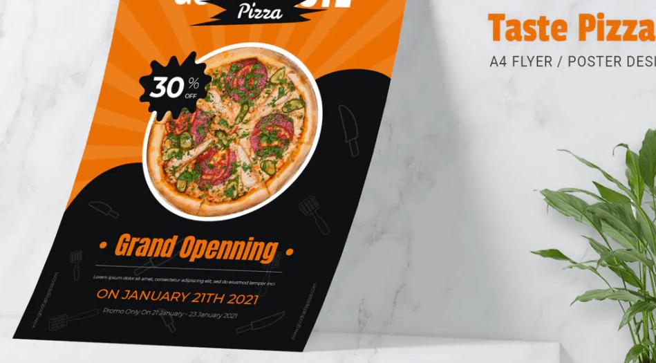 aste Pizza Flyer