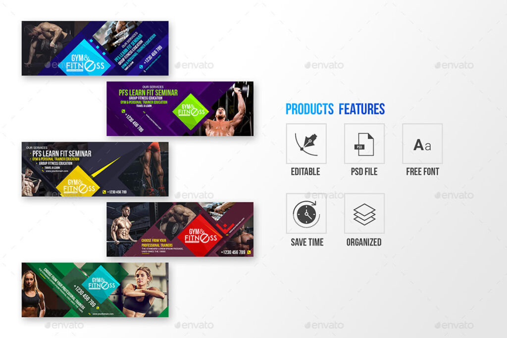 10 Facebook Cover- Gym & Fitness (1)