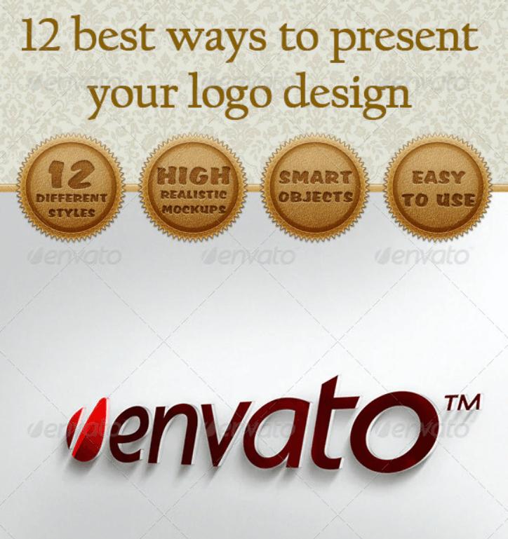 12 Logo Presentation Mockup