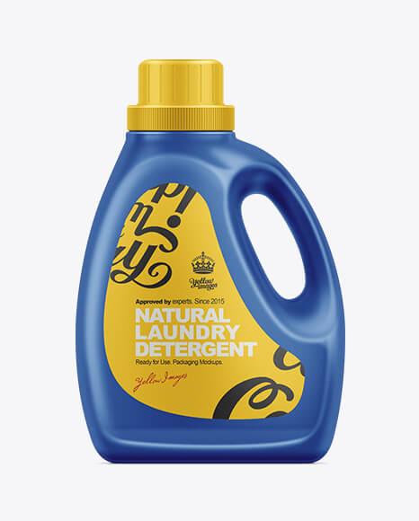 2.66L Liquid Laundry Detergent Bottle Mockup (1)
