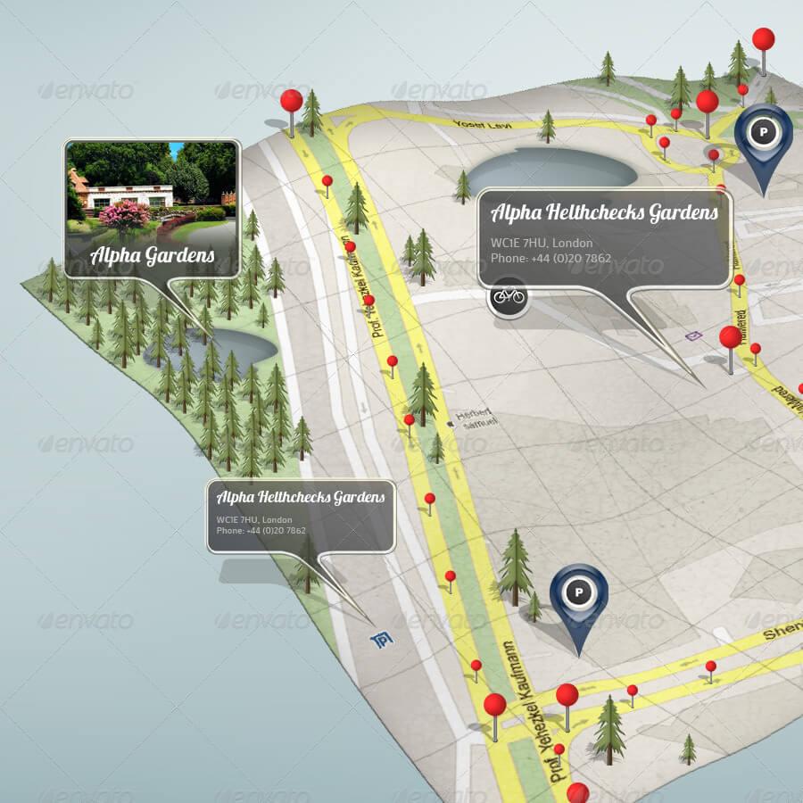 3D Google Map Mock-up (2)