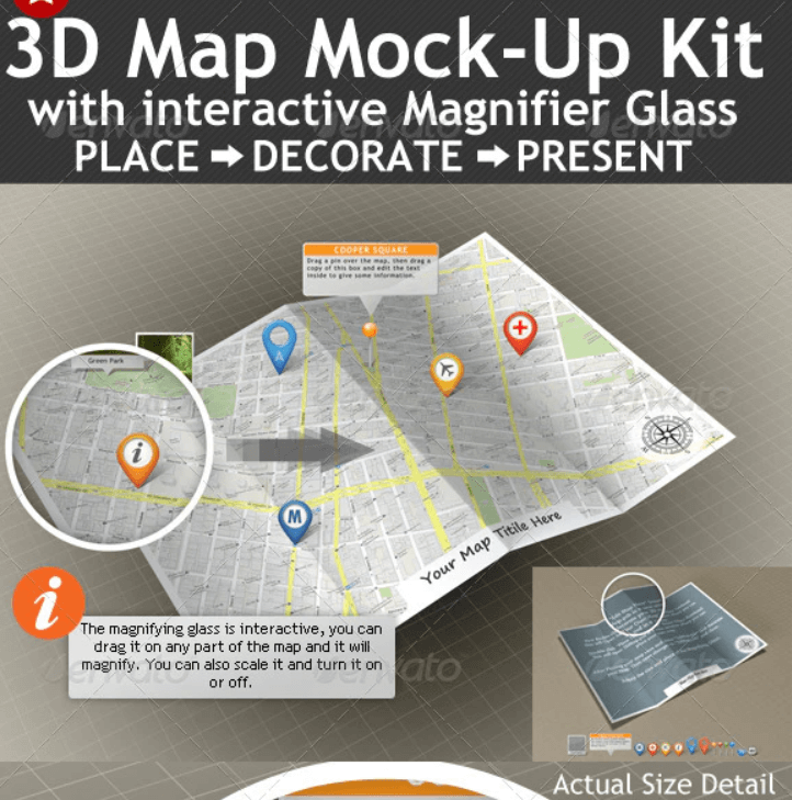 3D Map Mock-Up Kit with Magnifying Glass1