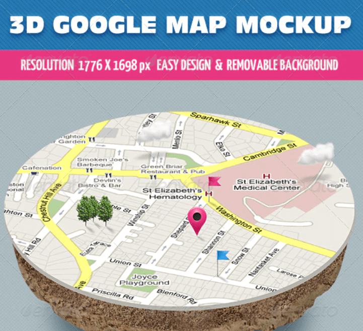 3D Map Mockup