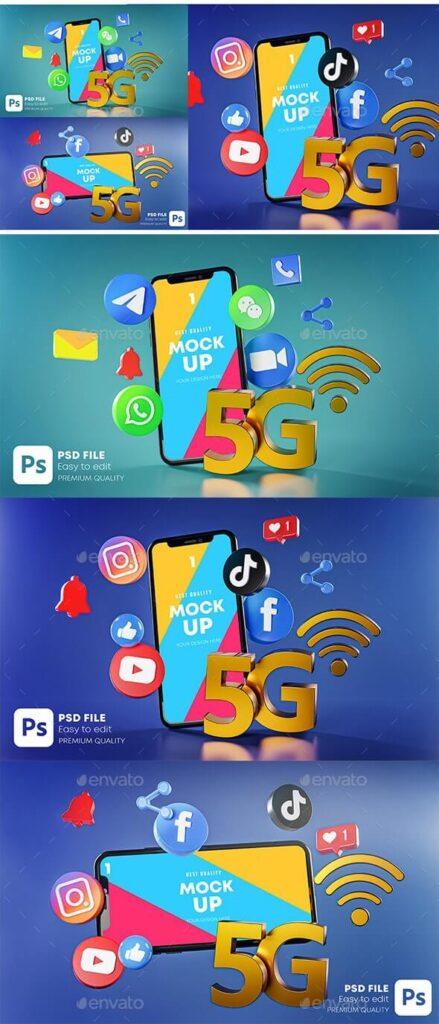 5G Most Popular Social Media Phone Mockup (1)