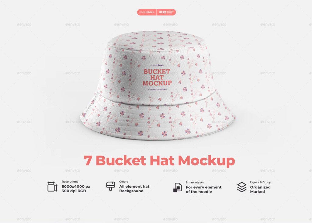 7 Bucket Hat Mockups (1)