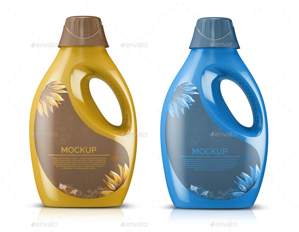 8 Plastic Laundry Detergent Bottle Mockups (1)