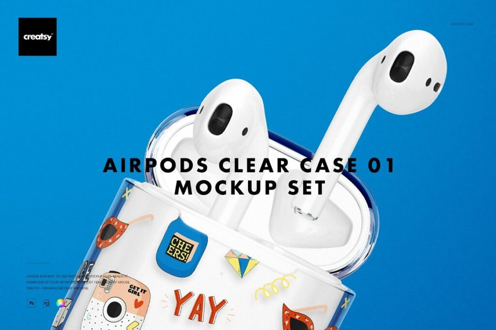 AirPods Clear Case Mockup Set 01 (1)