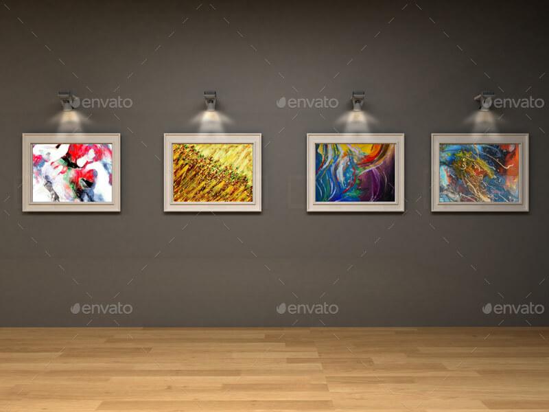Art Gallery Wall Framed Mockup (1)
