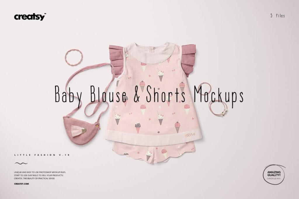 Baby Blouse & Shorts Mockup Set1 (1)