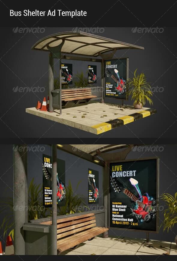 Bus Shelter Ad Mock-Ups (1)
