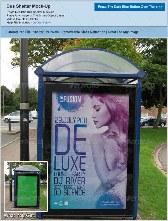 Bus Shelter Poster Mockup (1)