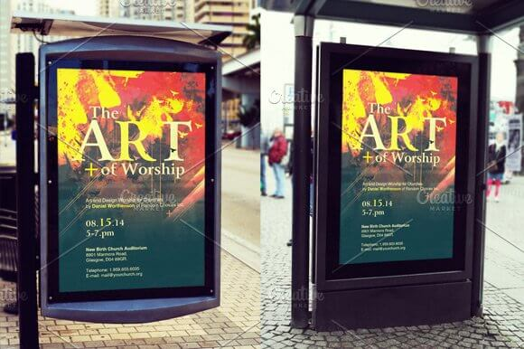 Bus Stop Poster Mockup Template (1)