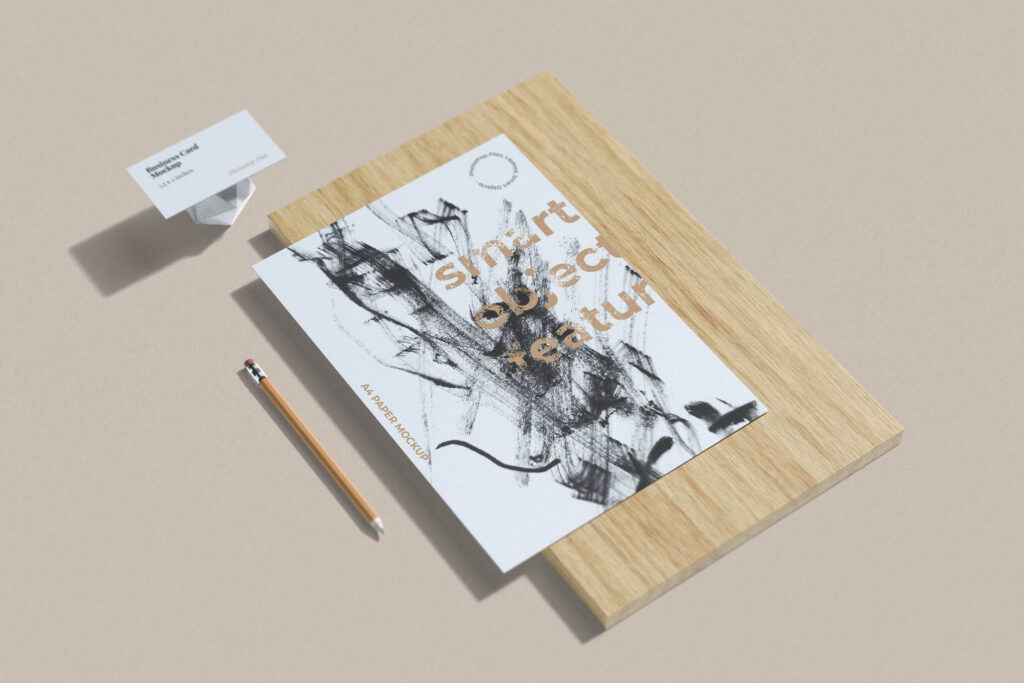 Business Card and A4 Paper Mockups (1)