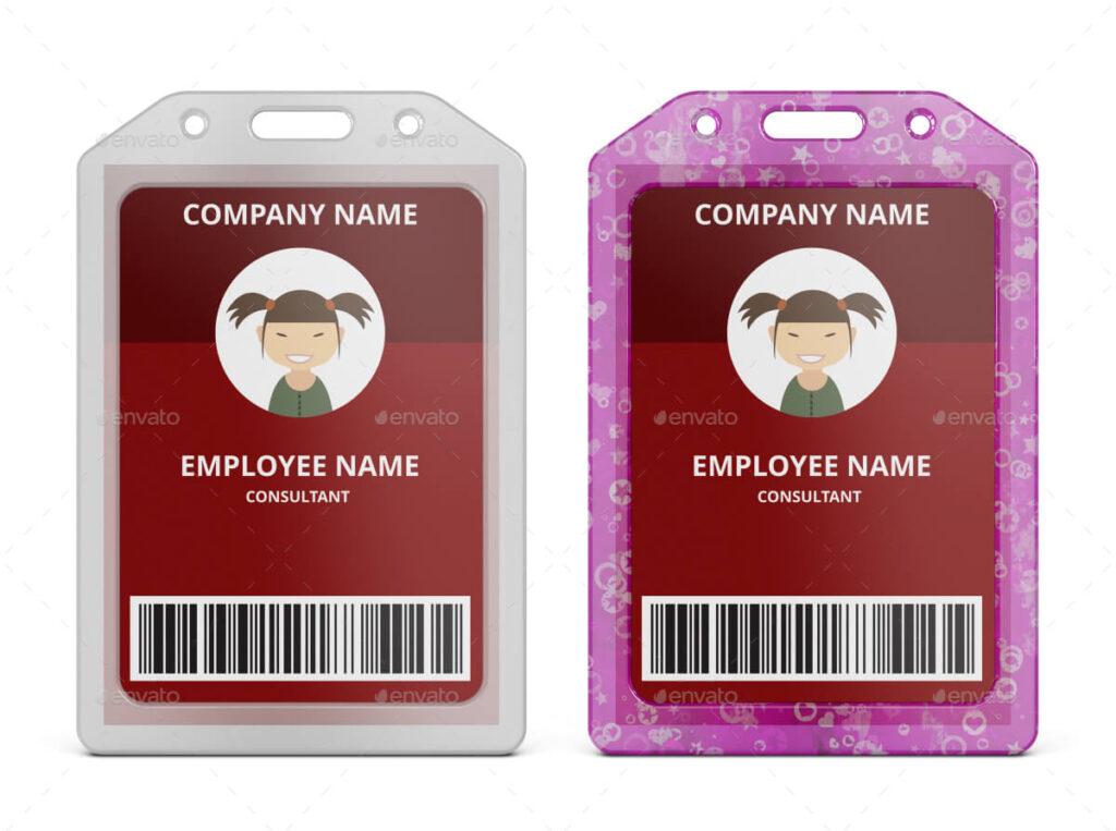Card Badge Name Tag Holder Vertical Soft Clear PVC Mockup (1)