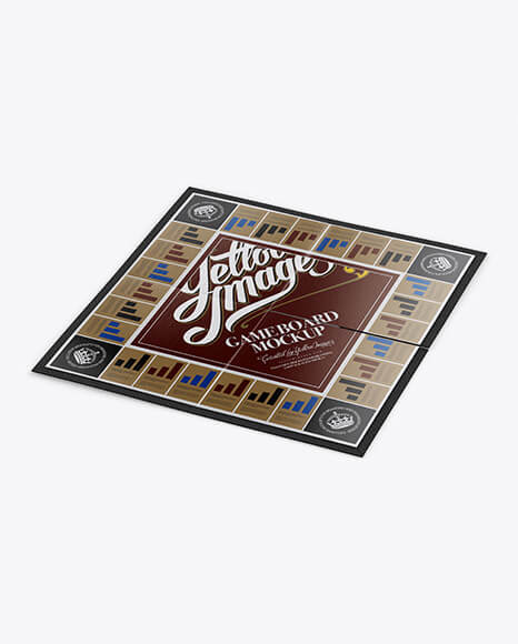 Carton Game Board Mockup - Half Side View (High-Angle Shot) (1)