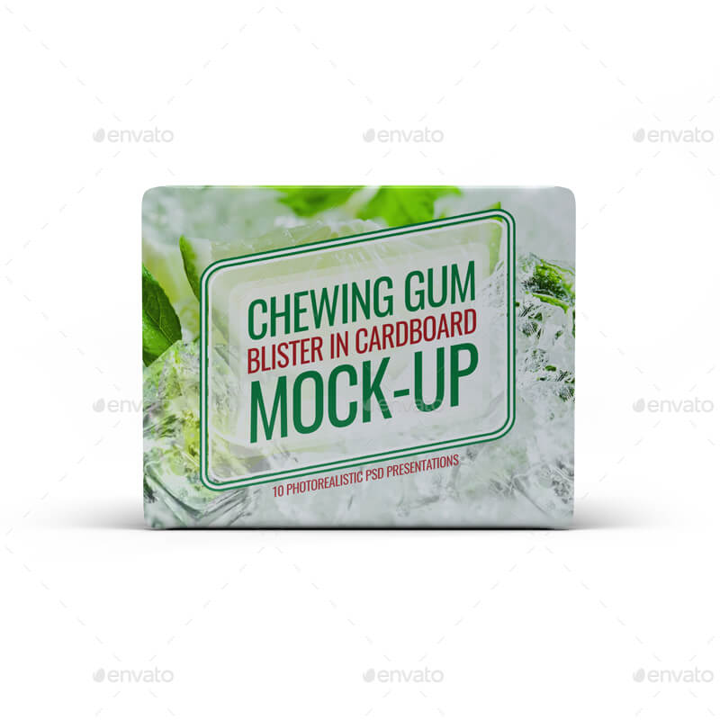 Chewing Gum Blister in Cardboard Mock-Up (1)