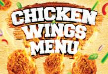 Chicken Wings Menu
