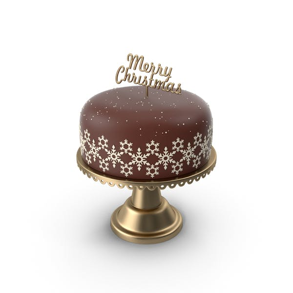 Christmas Cake with Topper Merry Christmas