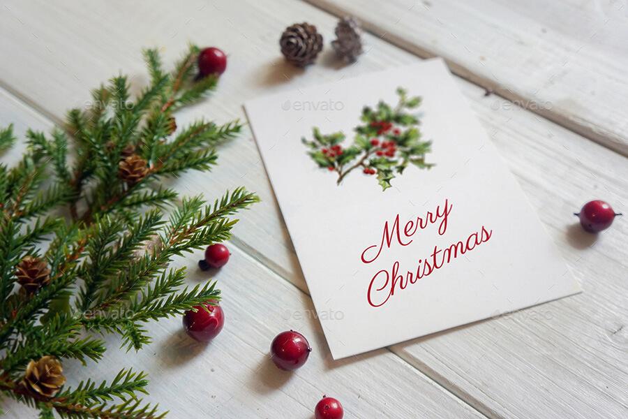 Christmas Card Mockup (4)